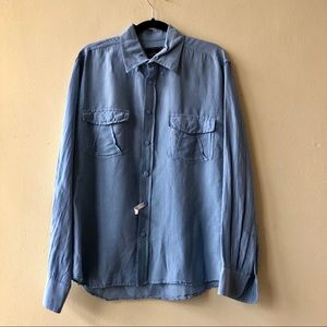 Conte of Florence light blue button down shirt